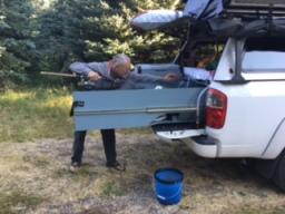 MacGyver fishing
